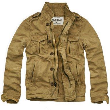 (カリホリ) Cali Holi ミリタリージャケット シャツジャケット トラックジャケット チェック柄 メンズ B-ベージュ 【M】 並行輸入品