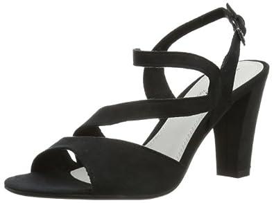 Marco Tozzi 2-2-28316-22, Sandales femme - Noir (001 Black), 37 EU