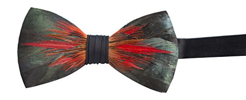 Brackish Feather Pre-tied Bow tie - Big Spur (106-BRK)