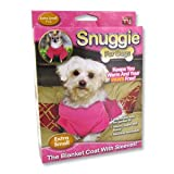 Snuggie for Dogs Pink Colored Fleece Blanket Coat with Sleeves (Extra Small)