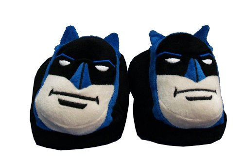 Image of Batman DC Comics Face Adult Plush Mens Slippers (EMDC7014)