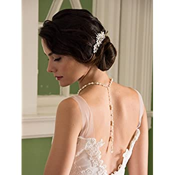 Mariell Vintage Pearl and Mixed Crystal Sunburst Wedding, Bridal or Prom Hair Comb - Retro Glam