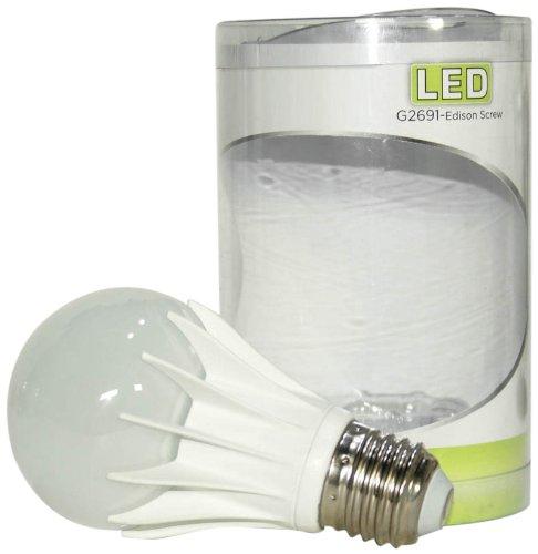 Bosse G2691-E27-WW - Lampadina con attacco E27 (vite Edison), 6 W, a LED, di lunga durata, A19, luce bianca calda
