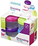 Sistema 21470 Hangsell Dressing Pot, 4-Pack