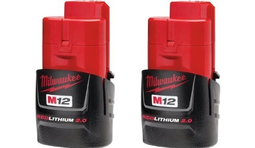 Milwaukee 48-11-2420 (2 PACK) M12 RED LITHIUM 2.0 12-Volt Cordless Battery (Milwaukee Cordless Heated Jacket compare prices)