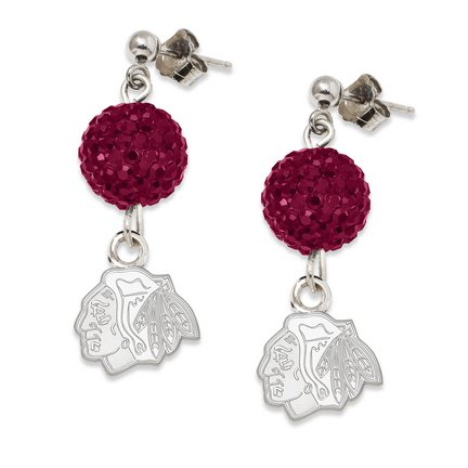 Chicago Blackhawks Ovation Crystal Earrings