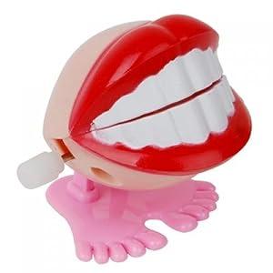 SODIAL(R) Dents de Sourire Jouet de Saut apres Monter le Ressort