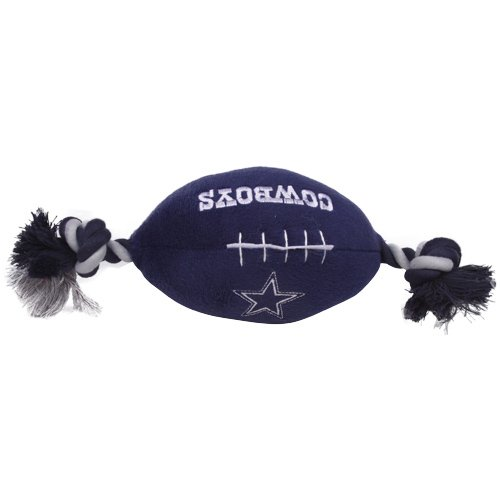 Dallas Cowboys Pet Football Rope Toy, 6-Inches long
