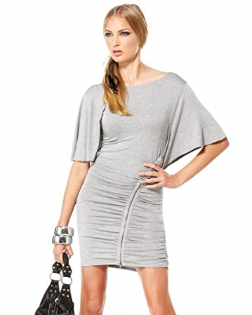 bebe Exposed Zip Tee Shirt Dress