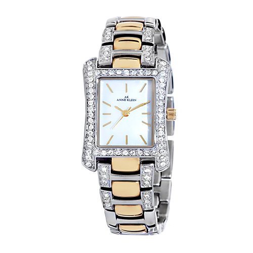 AK Anne Klein Women's 108931MPTT Swarovski Crystal Accented Two-Tone Dress Watch