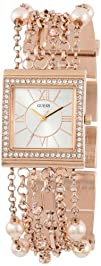 GUESS U0140L3 Rose Gold-Tone Embellished Bracelet Watch