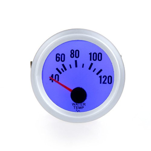 Docooler Water Temperature Meter Gauge with Sensor for Auto Car 2″ 52mm 40~120Celsius Degree Blue LED Light