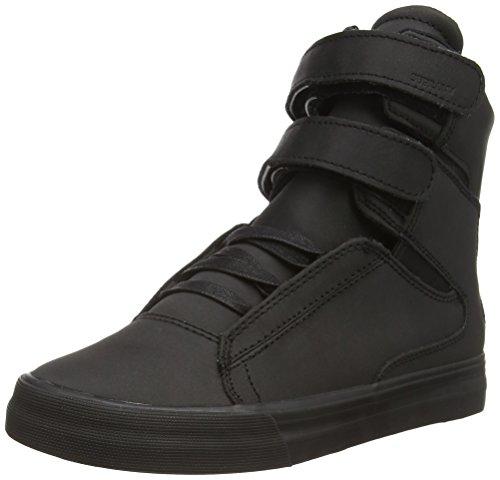Supra SOCIETY II, Sneaker alta Unisex - adulto, Nero (Schwarz (BLACK - BLACK   RCS)), 39