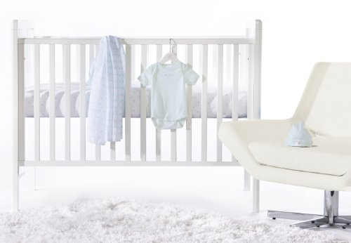 SwaddleDesigns 4 Piece Newborn Lightweight Crib Bedding Set, Pastel Blue, 0-3months