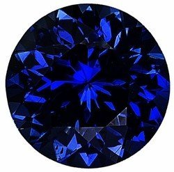 Natural Blue Sapphire Gem Stone, Round Shape, Diamond Cut, Grade AA, 2.50 mm in Size, 0.08 Carats (Natural Sapphire Stone compare prices)