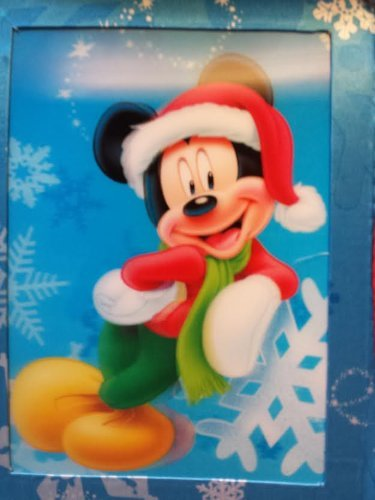 Disney Mickey Mouse 3D Lenticular Christmas Santa Stocking 18 inch - 1