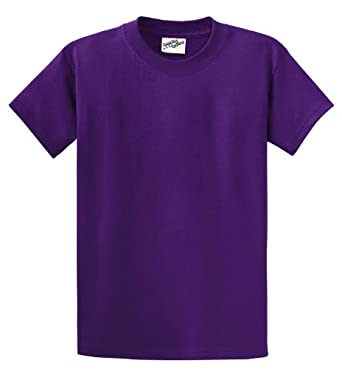 Amazing Apparel , Heavyweight Cotton T-Shirt (XXX-Large, Purple)