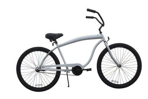 SixThreeZero Men's In The Barrel Single Speed Beach Cruiser Bike, Cool Gray, 18-Inch