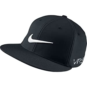 Nike GOLF FLAT BILL TOUR CAP new logo BLACK/BLACK//WHITE L/XL