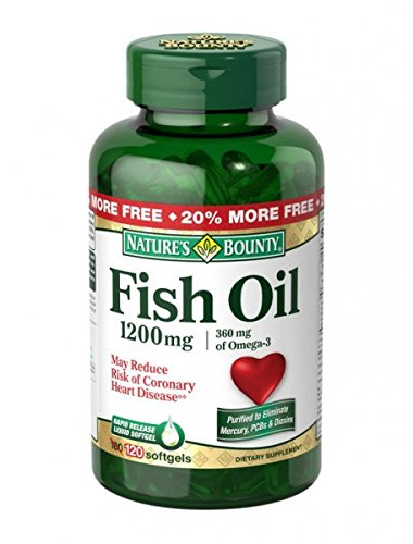 Nature's Bounty Fish Oil 1200 mg Softgels 120 CP - Buy Packs and SAVE (Pack of 5) (Natures Bounty Omega 3 6 compare prices)