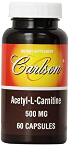 Carlson Labs Acetyl L-Carnitine, 500mg, 60 Capsules