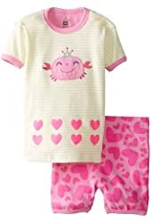 Petit Lem Baby Girls' Princess Of The Ocean Short Set