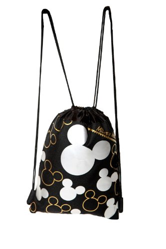 Disney Mickey Mouse Silver Drawstring Backpack - 1