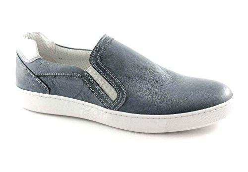 NERO GIARDINI 4112 jeans scarpe uomo sneaker sportive slip on 44