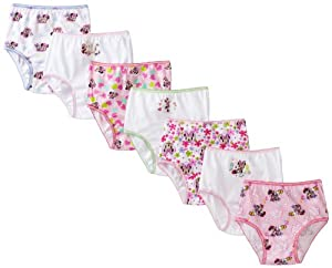 Handcraft Girls 2-6X Disney Minnie 7-Pack Rotating Print Underwear by Handcraft