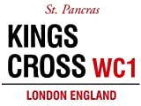 KINGS CROSS WC1 LONDON STREET SIGN METAL STEEL ADVERTISING WALL SIGN
