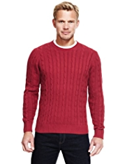 Blue Harbour Pure Cotton Cable Knit Jumper