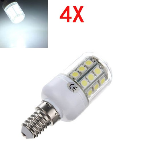 4X E14 3.2W Led White 5050 30 Smd Corn Light Lamp Bulbs Ac 220V