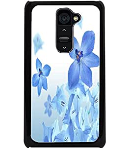ColourCraft Beautiful Flowers Design Back Case Cover for LG G2