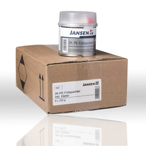 6x Jansen 2K-PE riempimento spatola grigio 250gr. incl. Indurente