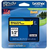 Brother TZe631 - Laminated adhesive tape - black on yellow - Roll (1.2 cm x 8 m) - 1 roll(s) 535042