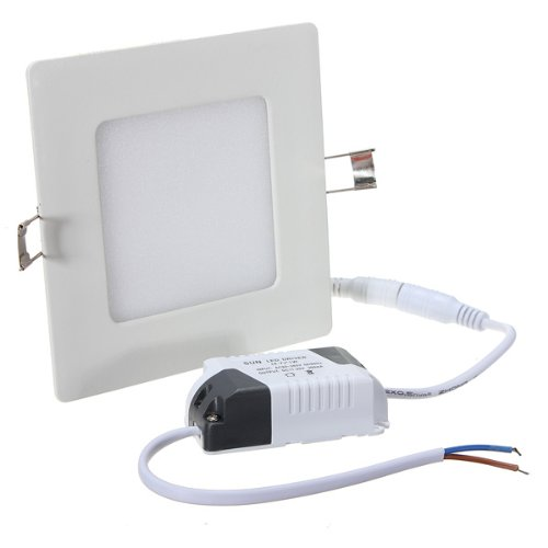 Niceeshop(Tm) 6W Square Recessed Ceiling Panel Downlight With Led Driver,White