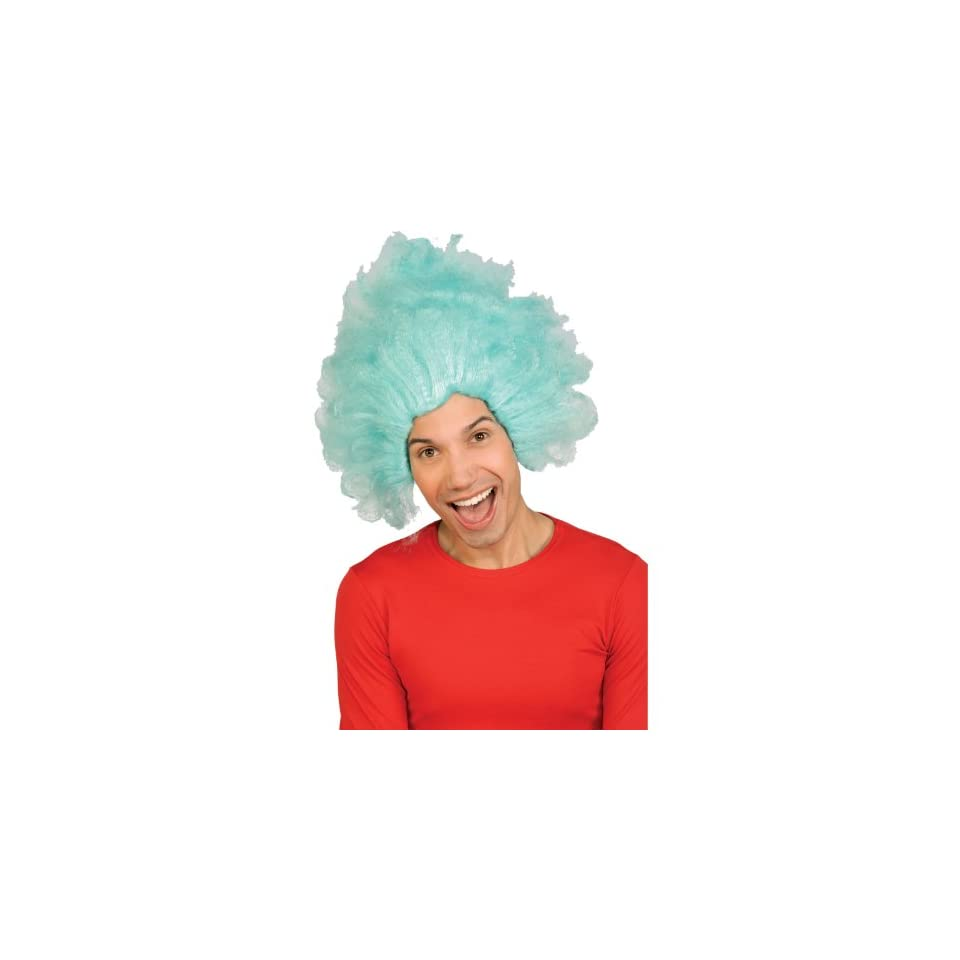 Dr Seuss Thing 1 or Thing 2 Wig (blue) Adult Halloween Costume Accessory 25efd8855a