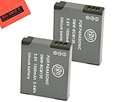 Replacement DMW-BCM13E Batteries for Panasonic Lumix (Pack of 2)