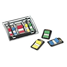 Post-it Flag Organizer, Black, Designer Series, Holds Three 1-Inch or Six 1/2-Inch Flag Dispensers