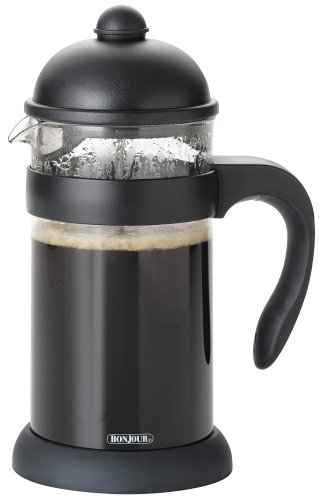 BonJour 53392 Hugo 3-Cup Unbreakable French Press, Black