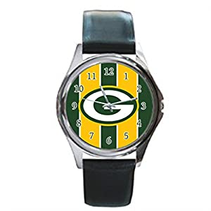 Time Walker Men's Sport NFL Green Bay Packers Display Analogue Black Dial Analog Quartz Watch