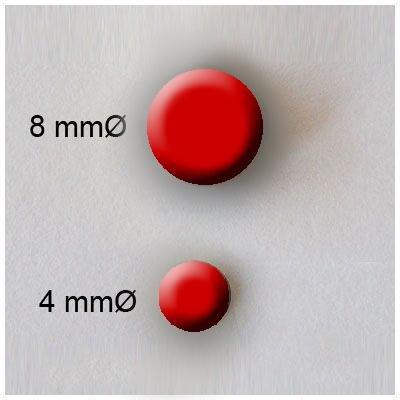 Rayher - 7871618 - tachuelas redondo, 4 + 8 millimeter, diseño 75 pcs, rojo