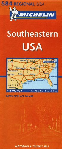 Michelin Map USA Southeastern 584 (Maps/Regional (Michelin))