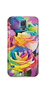 Casenation Vibrant Roses Soft Case Cover For Samsung Galaxy S5