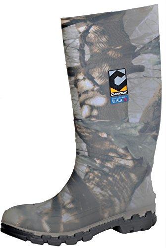 Chinook Men's Kickaxe Waterproof Soft Toe Rain Boot (8 D(M) US, Camo) (Camo Rain Boats compare prices)
