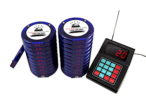 Pager Genius 10 Digital Restaurant Coaster Blue Pagers