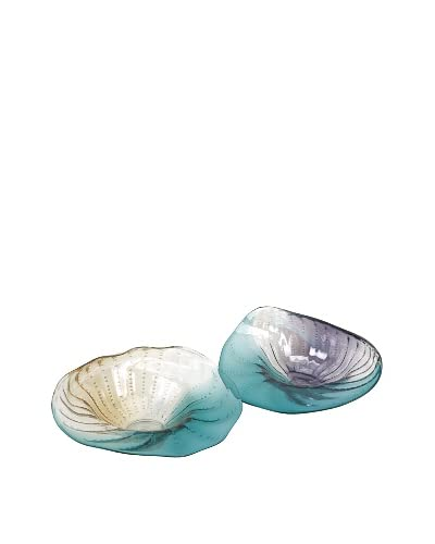 Assorted Set of 2 Himara Glass Shell Wall Décor