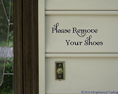 Please Remove Your Shoes BLACK vinyl decal sticker 8