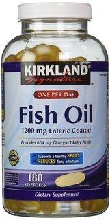 Kirkland Signature Fish Oil 1200 Mg Enteric Coated Provides 684 Mg of Omega-3 Fatty Acids: 360 Softgels (Kirkland Omega 3 1200mg compare prices)