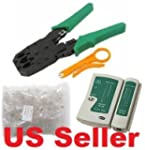 Cable Tester +Crimp Crimper +100 Rj45...